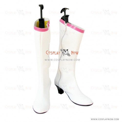 Sailor Moon Cosplay Shoes Tsukino Usagi White Boots