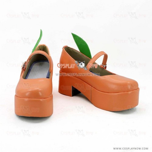Vocaloid Kagamine Rin Yellow Cosplay Shoes