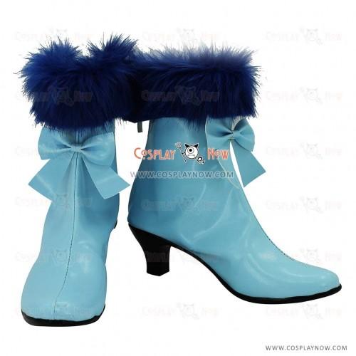 KARNEVAL Cosplay Shoes Kiichi Light Blue Boots
