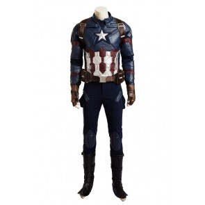 Captain America Steve Rogers Costume For Captain America Civil War Cosplay New Version