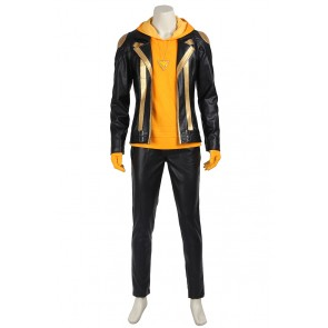 Male Yellow Costume For Pokemon GO Cosplay Uniform