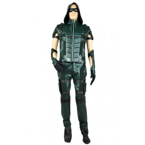 Green Arrow Season 4 Oliver Queen Cosplay Costume Combat Uniform