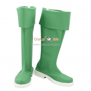 Cute High Earth Defense Club LOVE! Cosplay Shoes Atsushi Kinugawa Green Boots