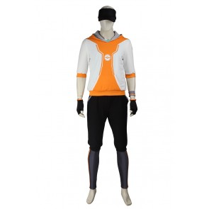 Pokemon GO Cosplay Male Orange Uniform