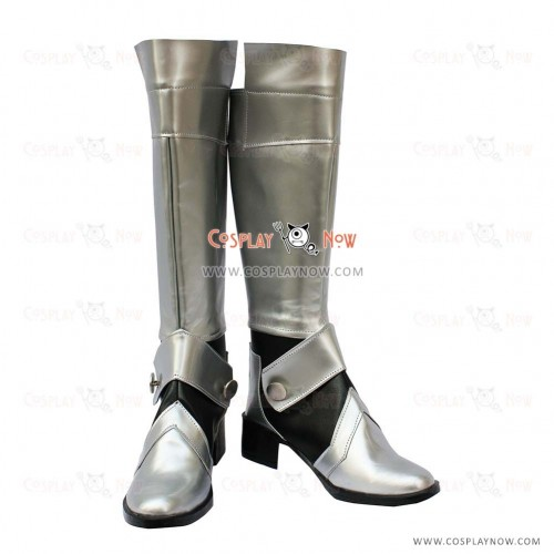 Fate Stay Night Fate Zero Saber Cosplay Shoes Altria Pendragon King Arthur Silver Boots