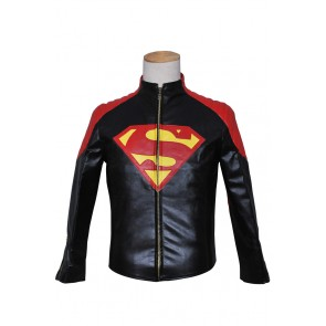 Smallville Cosplay Clark Kent Black Red Coat Costume