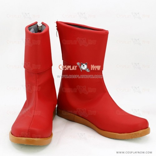 Fairy Tail Cosplay Shoes Levy Mcgarden Red Boots