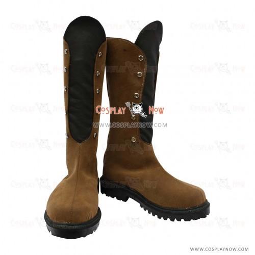 Hakuouki Cosplay Shoes Kaoru Nagumo Leather Boots