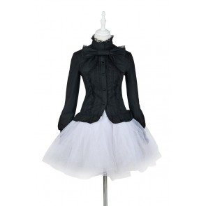 Lolita Dress Gothic Classical Black Blouse Cosplay Costume