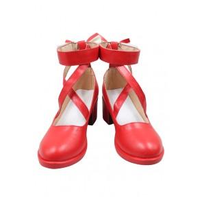Puella Magi Madoka Magica Cosplay Shoes Madoka Kaname Shoes Red