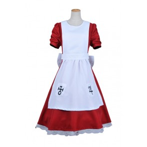 Alice Madness Returns Cosplay Alice Costume Red White Dress