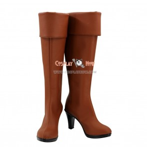 Fairy Tail Cosplay Shoes Lucy Heartfilia Brown Boots