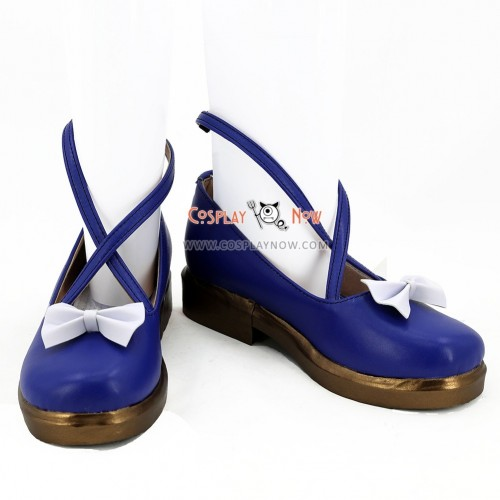 Vocaloid Hatsune Snow Miku Twinkle Snow Ver. Blue Cosplay Shoes