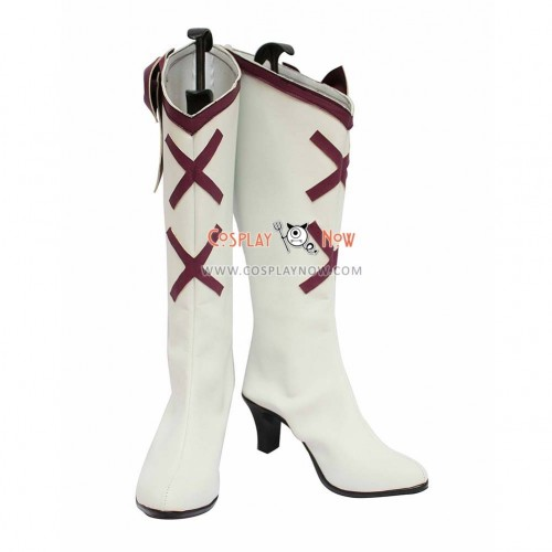 Pretty Cure Cosplay Shoes Cure Moonlight White Boots
