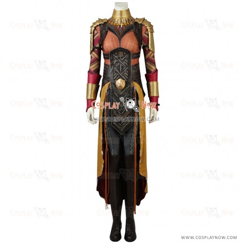 Black Panther Okoye Coslay Costume with printing