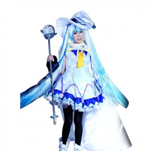 Vocaloid Snow Miku Cosplay Costume Magic Dress