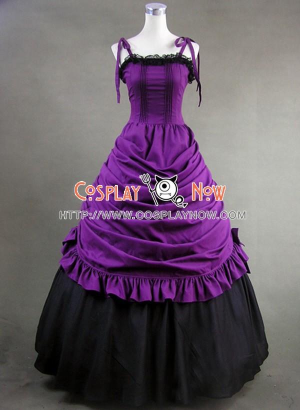 Southern Belle Civil War Ball Gown Dress Prom Purple Dress