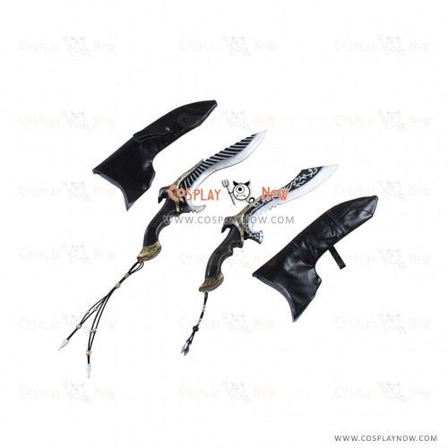 Final Fantasy Cosplay Nyx Ulric props with swords