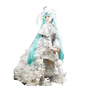 Vocaloid Cosplay Hatsune Miku Costume White Rabbit Dress