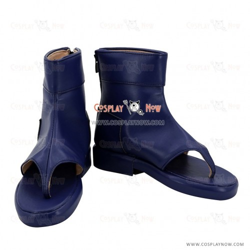 Naruto Tsunade Young Stage Blue Cosplay Shoes