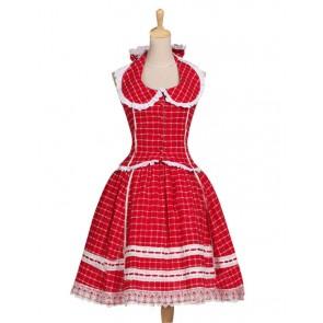 Victorian Lolita 1950s Romantic Chic Halterneck Gothic Lolita Dress