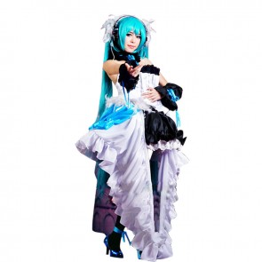 Vocaloid Cosplay Hatsune Miku Costume Angel Dress