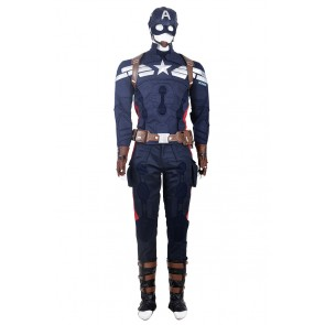 The Winter Soldier Steve Rogers Costume For Captain America 2 Cosplay
