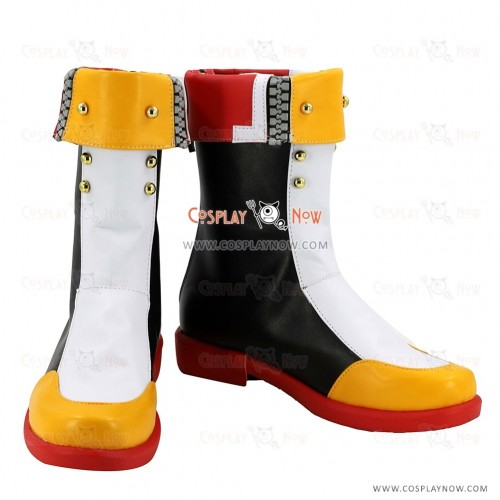 Blazblue: Central Fiction Cosplay Shoes Mai Natsume White Boots