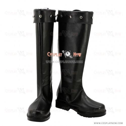 K Return Of Kings Cosplay Shoes Isana Yashiro Black Boots