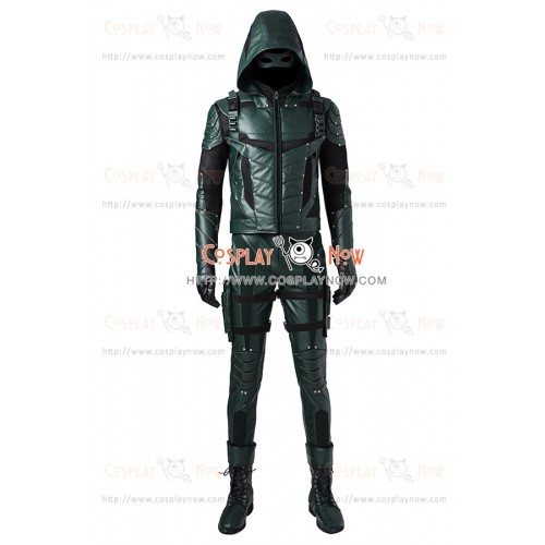 Green Arrow Season 5 Cosplay Oliver Queen Costume