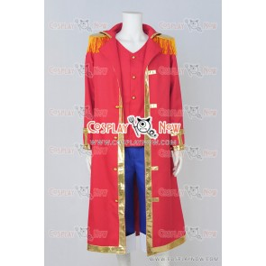One Piece Cosplay Monkey D Luffy Red Costume