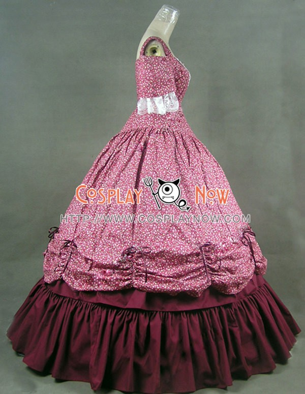 Southern Belle Civil War Cotton Dress Ball Gown Prom