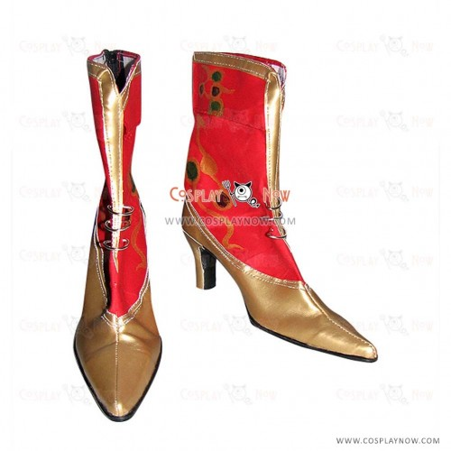 Dissidia Final Fantasy Cosplay Tina's Patterned High Heel Boots