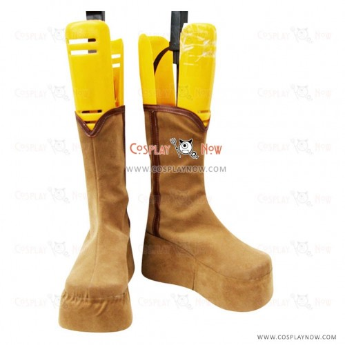 Silver Soul Cosplay Shoes Kagura Brown Cosplay Boots