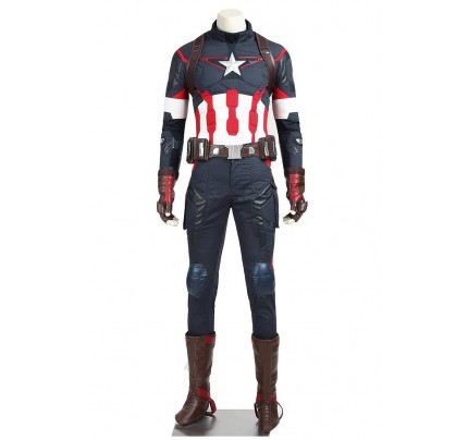 Captain America Steve Rogers Costume For Avengers Age Of Ultron Cosplay