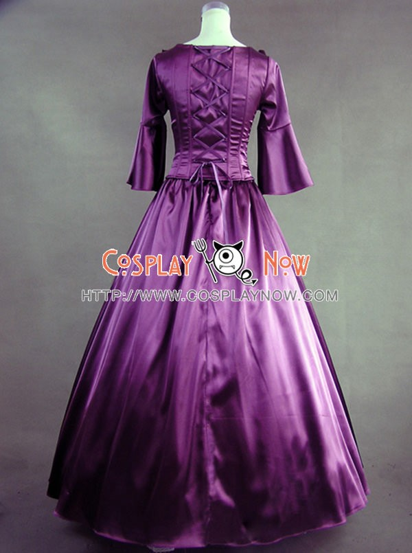 Colonial Lolita Ball Gown Prom Purple Wedding Dress