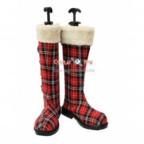 Black Butler Cosplay Shoes Ciel's Kawaii Gird Pattern Snow Boots