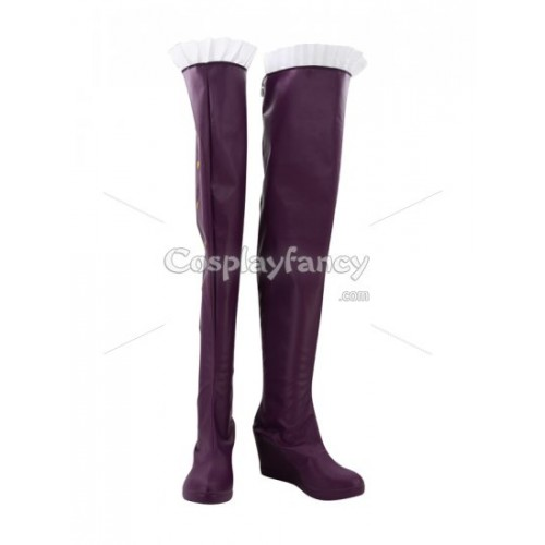 League of Legends Cosplay Ashe Purple Cosplay Boots