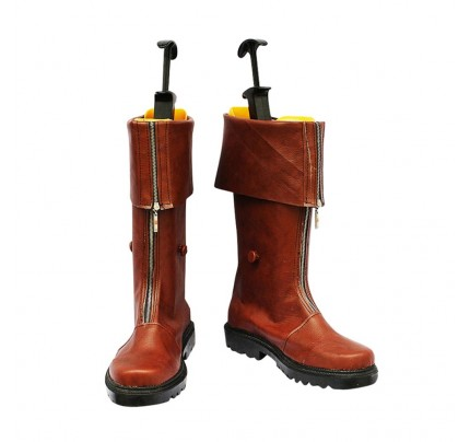 Final Fantasy VII Cosplay Shoes Cloud Strife Brown Boots