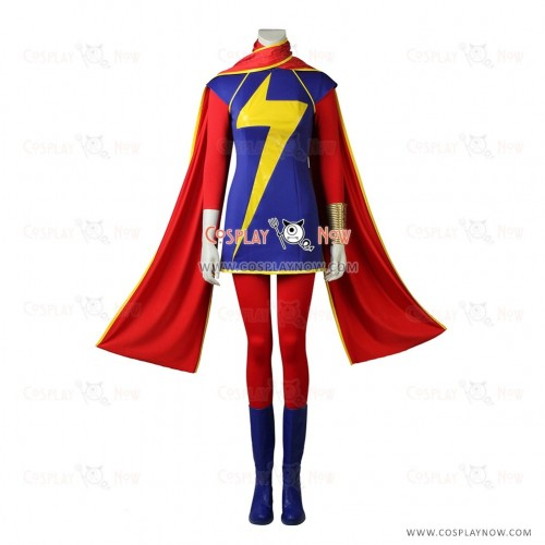 The fourth Captain Ms.Marvel Kamala Khan Cosplay Costume