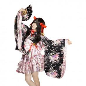 Lolita Cosplay Universal Japan Sakura Kimono Dress Costume